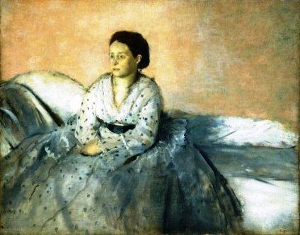 Madame René de Gas - quadro de Edgar Degas, 1873