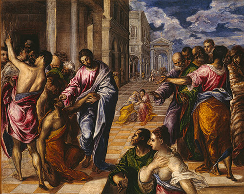 The Miracle of Christ Healing the Blind - El Greco, 1570