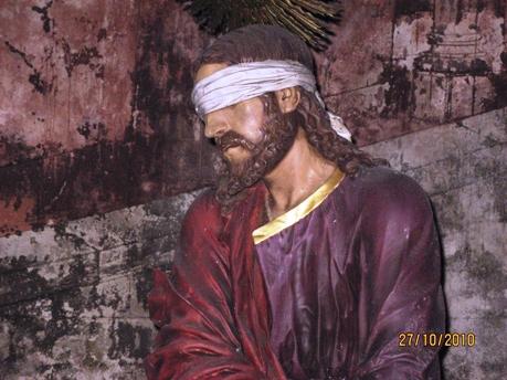 Na casa de Anás - escultura de Evangelista Vieira no Bom Jesus de Braga  (foto MJA)