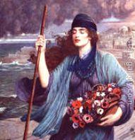 Nydia, Blind Girl of Pompeii - Herbert Gustav Schmalz
