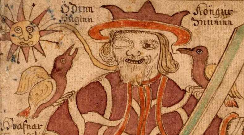 Odin, o deus nórdico, que trocou por conhecimento o seu olho direito