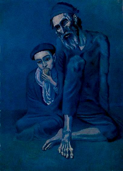 Old Jew with a Boy - Picasso, 1903
