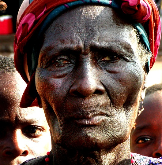 Blind old woman - Sierra Leone, Kono