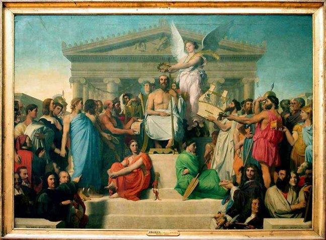 A Apoteose de Homero - Ingres, 1827