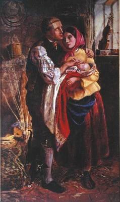 O cesteiro cego com o primeiro filho - Michael Halliday, 1858
