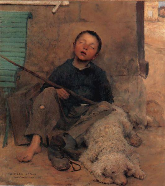 The Blind Beggar - Jules Bastien  Lepage
