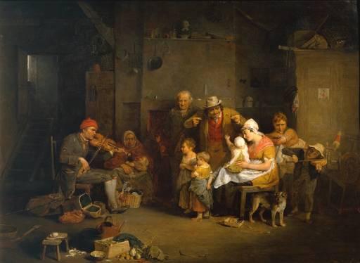 The Blind Fiddler-David Wilkie-1806