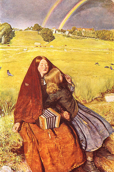 Menina cega - Everett Millais, 1856