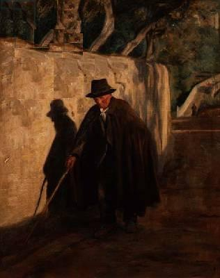 A blind man on a track  - Anna Elisabeth Munch [1876-1960]