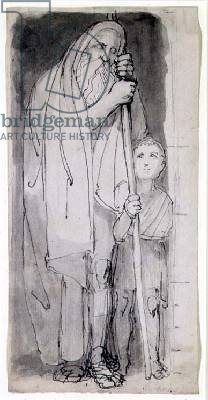 O Cego Tirésias e um rapaz - John Flaxman - séc. 18