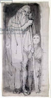 The Blind Tiresias and a boy - John Flaxman, c.18th