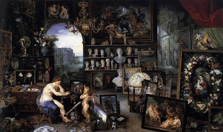 The Sense of Sight-Jan Brueghel the Elder [1568–1625], (com a colaboração de Rubens), 1618
