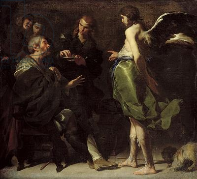 The Young Tobias Heals his Blind Father-1640-Bernardo Cavallino