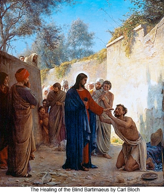 The Healing of the Blind Bartimaeus - quadro de Carl Bloch