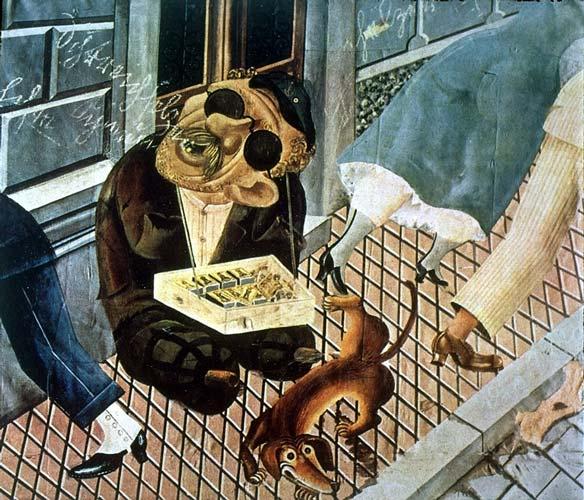 O Vendedor de Fósforos [mutilado de guerra] - Otto Dix, 1921
