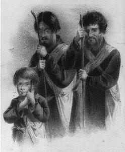 Dois camponeses russos cegos conduzidos por um rapazinho, 1861