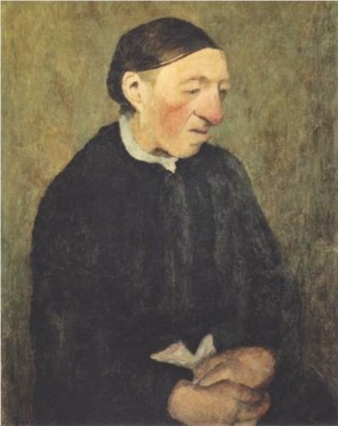 Velha cega com lenço - Paula Modersohn-Becker, 1903