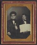 Blind man & his reader - anonimo - daguerreótipo, c. 1850