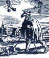 Cego guiado por cão - xilogravura, 1465