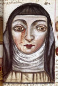 nun with a bleeding eye-Arzneibuch Compendium1675