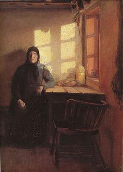 Um raio de sol no quarto da mulher cega - Anna_Ancher, 1885