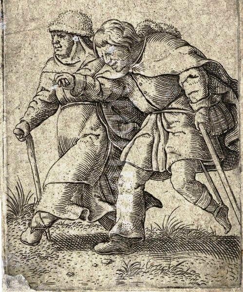 Mulher conduz um homem cego - Cornelis Massijs, c. 1538