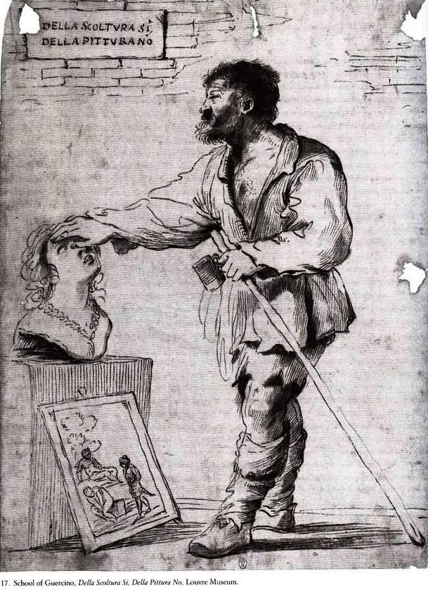 Della Scoltura Si, Della Pittura No - School of Guercino -  Louvre Museum